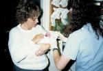 Lynda with Ally 1988