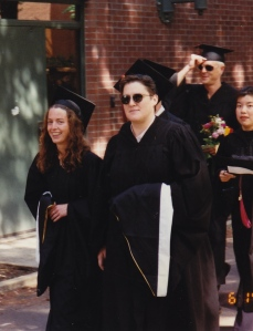 No brain damage here! Ready to receive your Master's Degree in 1997.