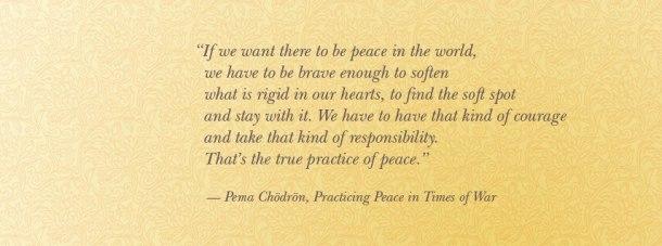 Pema Chodron on Peace
